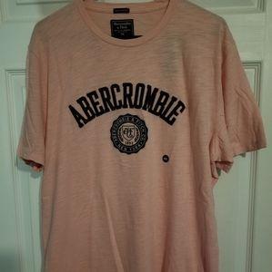 Men's XXL NWT Abercrombie Pink Logo Tshirt